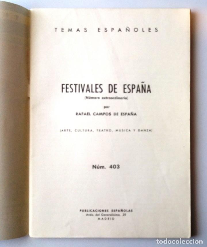 Coleccionismo de Revista Temas Españoles: TEMAS ESPAÑOLES / FESTIVALES DE ESPAÑA - Foto 2 - 178801442