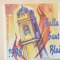 Coleccionismo de Revista Temas Españoles: BURRIANA LLIBRET 1998 FALLA SAN BLAI. Lote 183797691