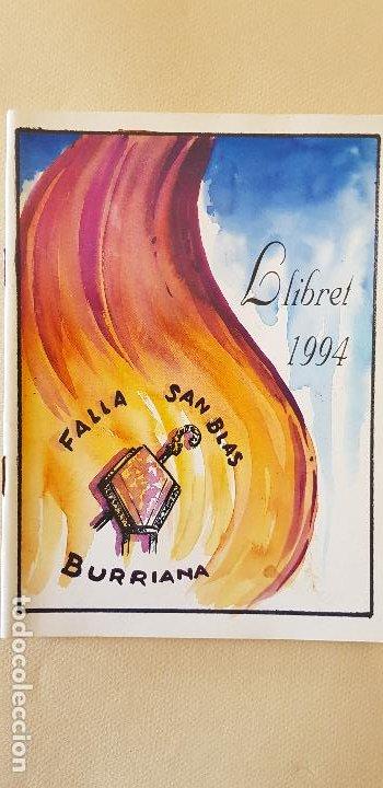 BURRIANA LLIBRET 1994 FALLA SAN BLAI (Papel - Revistas y Periódicos Modernos (a partir de 1.940) - Revista Temas Españoles)