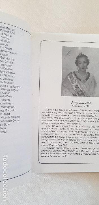 Coleccionismo de Revista Temas Españoles: BURRIANA LLIBRET 1992 SANT BLAI - Foto 2 - 183798966