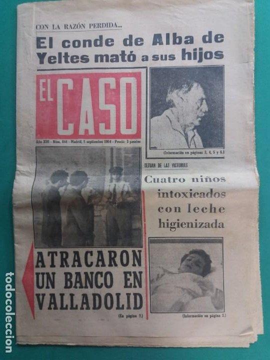 EL CASO-Nº 644-1964 (Papel - Revistas y Periódicos Modernos (a partir de 1.940) - Revista Temas Españoles)