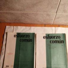 Coleccionismo de Revista Temas Españoles: 10 REVISTAS CARLISTA ESFUERZO COMUN. Lote 187545250