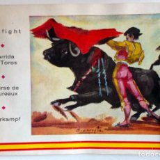 Coleccionismo de Revista Temas Españoles: 1965 CORRIDA DE TOROS COMPLETA CON EXPLICACIONES EN INGLES PARA EXTRANJEROS . Lote 189968746