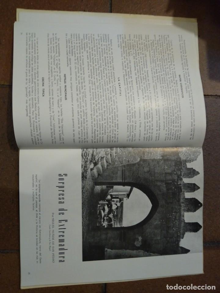 Coleccionismo de Revista Temas Españoles: Revista España dedicada a Extremadura. N° 36 publicidad, imágenes, hoteles, etc - Foto 8 - 191632816