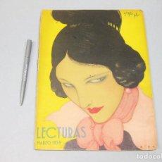 Coleccionismo de Revista Temas Españoles: REVISTA LECTURAS. Nº 142, MARZO 1933.. Lote 194148110