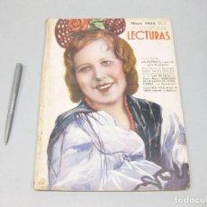 Coleccionismo de Revista Temas Españoles: REVISTA LECTURAS. Nº 168, MAYO 1935.. Lote 194148910