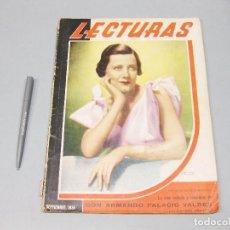Coleccionismo de Revista Temas Españoles: REVISTA LECTURAS. Nº 184, SEPTIEMBRE 1936.. Lote 194149158