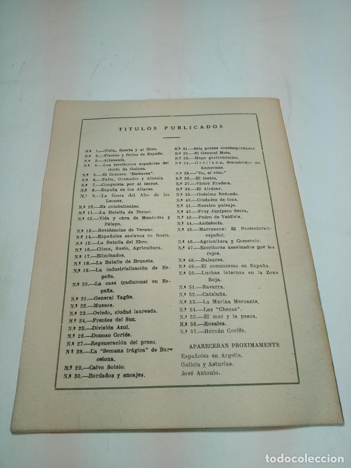 Coleccionismo de Revista Temas Españoles: Revista temas Españoles. Nº 57. Hernan Cortes. Publicaciones Españolas. Madrid. 1953. - Foto 3 - 196927706