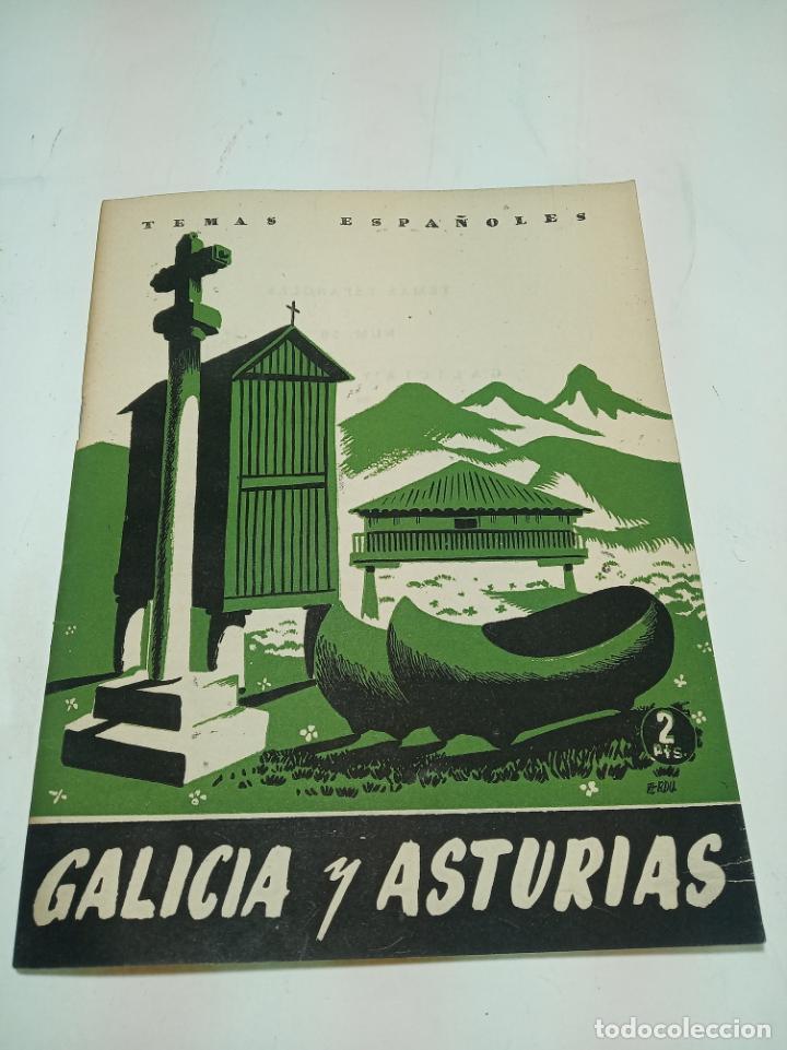 REVISTA TEMAS ESPAÑOLES. Nº 59. GALICIA Y ASTURIAS. PUBLICACIONES ESPAÑOLAS. MADRID. 1953. (Papel - Revistas y Periódicos Modernos (a partir de 1.940) - Revista Temas Españoles)
