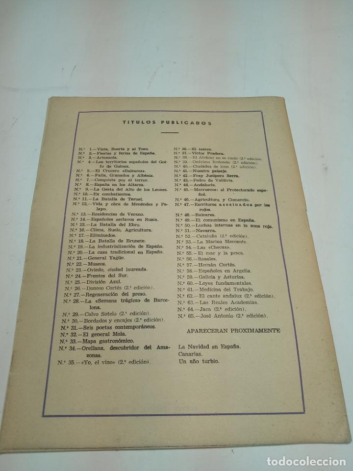 Coleccionismo de Revista Temas Españoles: Revista temas Españoles. Nº 65. Jose Antonio. Publicaciones Españolas. Madrid. 1956. - Foto 3 - 196928732