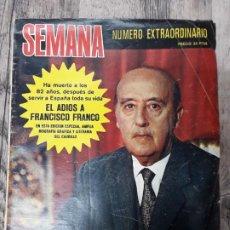 Coleccionismo de Revista Temas Españoles: REVISTAS Y PERIÓDICOS DE LA MUERTE DE FRANCO. Lote 197118825