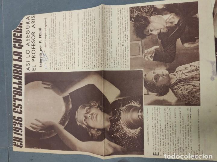 Coleccionismo de Revista Temas Españoles: ANTIGUOS RECORTES PERIODICO DE 1935, ARTICULO DE EL PROFESOR ARIS - Foto 2 - 198583606