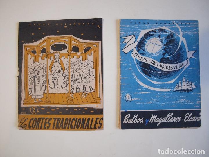 2 REVISTAS TEMAS ESPAÑOLES Nº 187 Y 267 - AÑO 1955 Y 1956 (Papel - Revistas y Periódicos Modernos (a partir de 1.940) - Revista Temas Españoles)