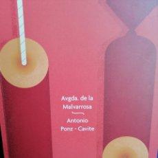 Coleccionismo de Revista Temas Españoles: LLIBRET FALLA AVENIDA DE LA MALVARROSA- ANTONIO PONZ CAVITE 2019. Lote 201263846