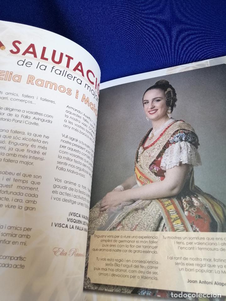 Coleccionismo de Revista Temas Españoles: LLIBRET FALLA AVENIDA DE LA MALVARROSA- ANTONIO PONZ CAVITE 2019 - Foto 3 - 201263846