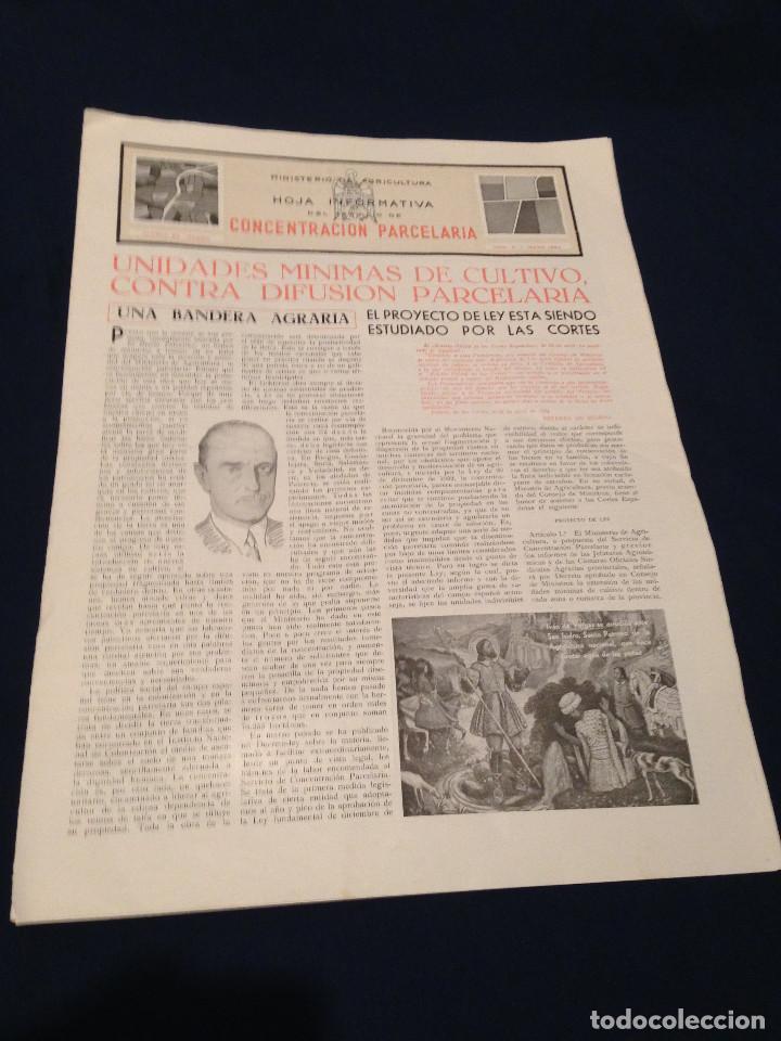 CONCENTRACION PARCELARIA,HOJA INFORMATIVA TIPO PERIODICO.AÑO1954.GUADALAJARA,VALLADOLID,CUENCA. (Papel - Revistas y Periódicos Modernos (a partir de 1.940) - Revista Temas Españoles)