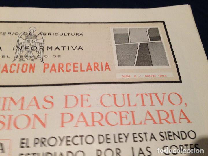 Coleccionismo de Revista Temas Españoles: CONCENTRACION PARCELARIA,HOJA INFORMATIVA TIPO PERIODICO.AÑO1954.GUADALAJARA,VALLADOLID,CUENCA. - Foto 2 - 201517756