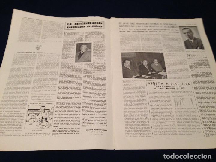 Coleccionismo de Revista Temas Españoles: CONCENTRACION PARCELARIA,HOJA INFORMATIVA TIPO PERIODICO.AÑO1954.GUADALAJARA,VALLADOLID,CUENCA. - Foto 4 - 201517756