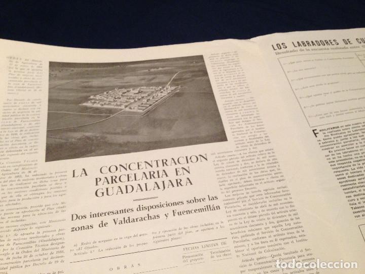 Coleccionismo de Revista Temas Españoles: CONCENTRACION PARCELARIA,HOJA INFORMATIVA TIPO PERIODICO.AÑO1954.GUADALAJARA,VALLADOLID,CUENCA. - Foto 5 - 201517756