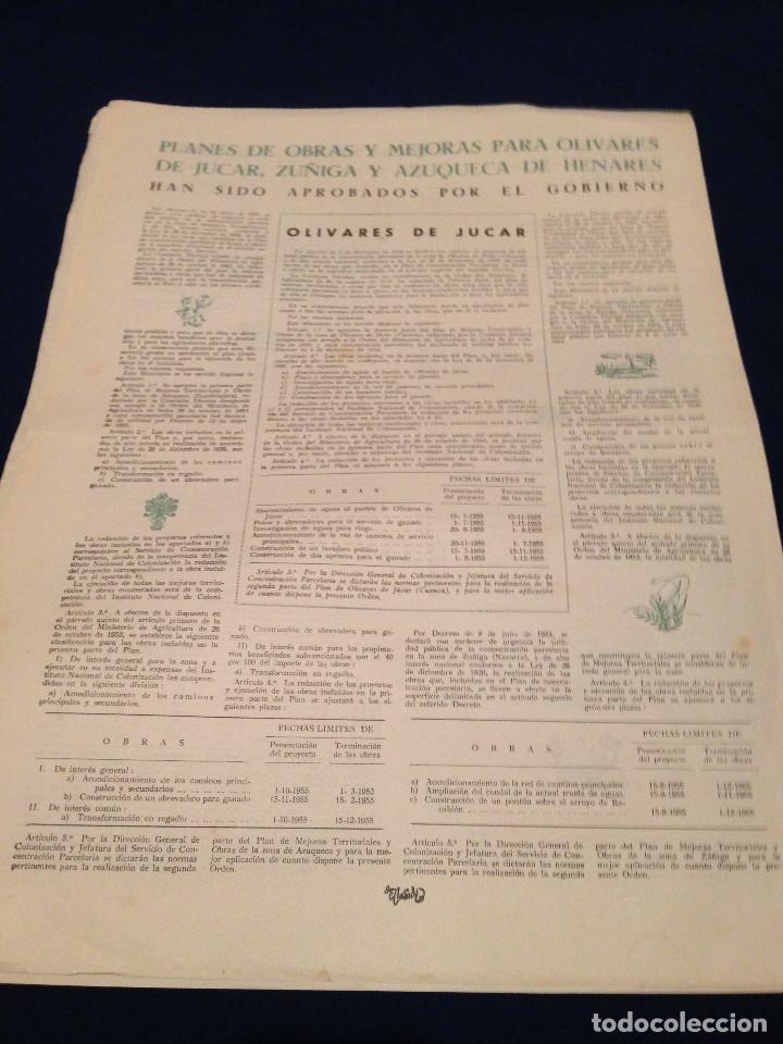 Coleccionismo de Revista Temas Españoles: CONCENTRACION PARCELARIA,HOJA INFORMATIVA TIPO PERIODICO.AÑO1953.ORENSE,OLIVARES DE JUCAR.ZUÑIGA... - Foto 6 - 201519472