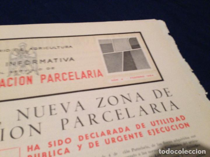 Coleccionismo de Revista Temas Españoles: CONCENTRACION PARCELARIA,HOJA INFORMATIVA TIPO PERIODICO.AÑO1954.VALLADOLID. - Foto 2 - 201520468