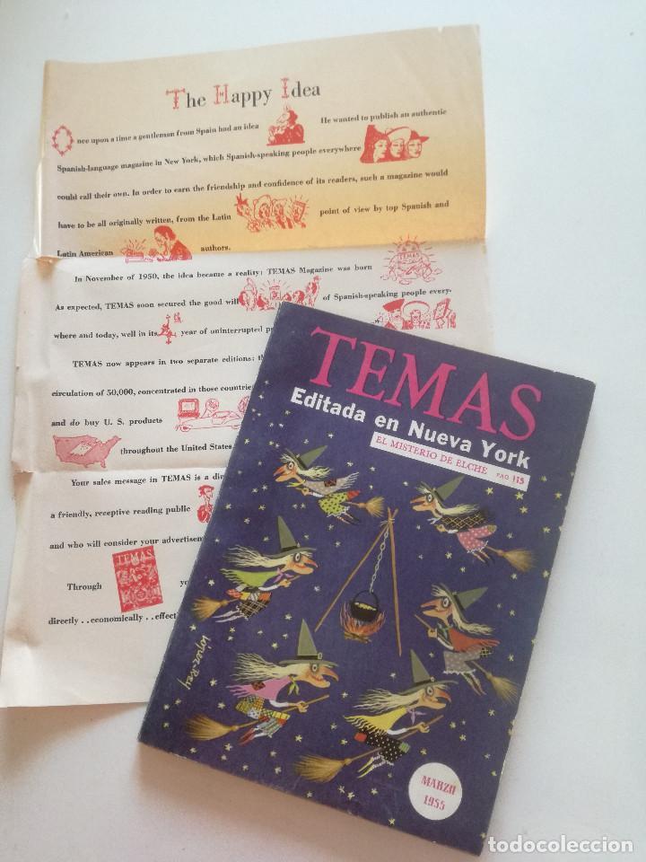 TEMAS - Nº 53, VOL. 9 - REVISTA ESPAÑOLA ED EN NY 1955 //TREMENDA ILUSTRACION BRUJAS TIPO JIM FLORA (Papel - Revistas y Periódicos Modernos (a partir de 1.940) - Revista Temas Españoles)