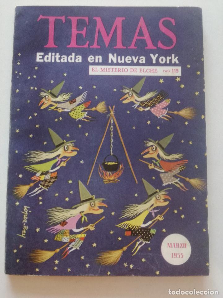 Coleccionismo de Revista Temas Españoles: TEMAS - Nº 53, Vol. 9 - REVISTA ESPAÑOLA ED EN NY 1955 //TREMENDA ILUSTRACION BRUJAS TIPO JIM FLORA - Foto 3 - 202421455
