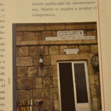 Colecionismo da Revista Temas Españoles: RECORTE DE REVISTA FERROVIARIA.ARTÍCULO SOBRE EL ASESINATO EN 1955 EN LA ESTACIÓN DE COSCURITA. Lote 202634202