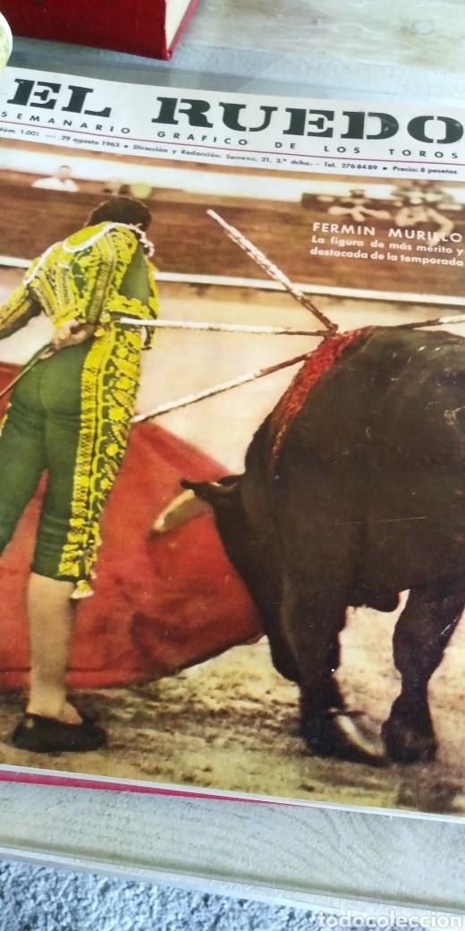 Coleccionismo de Revista Temas Españoles: 3 encuadernaciones del mundo de los toros ,mas de 100 numeros revista el ruedo , del 1963 al 1969 - Foto 2 - 203251000