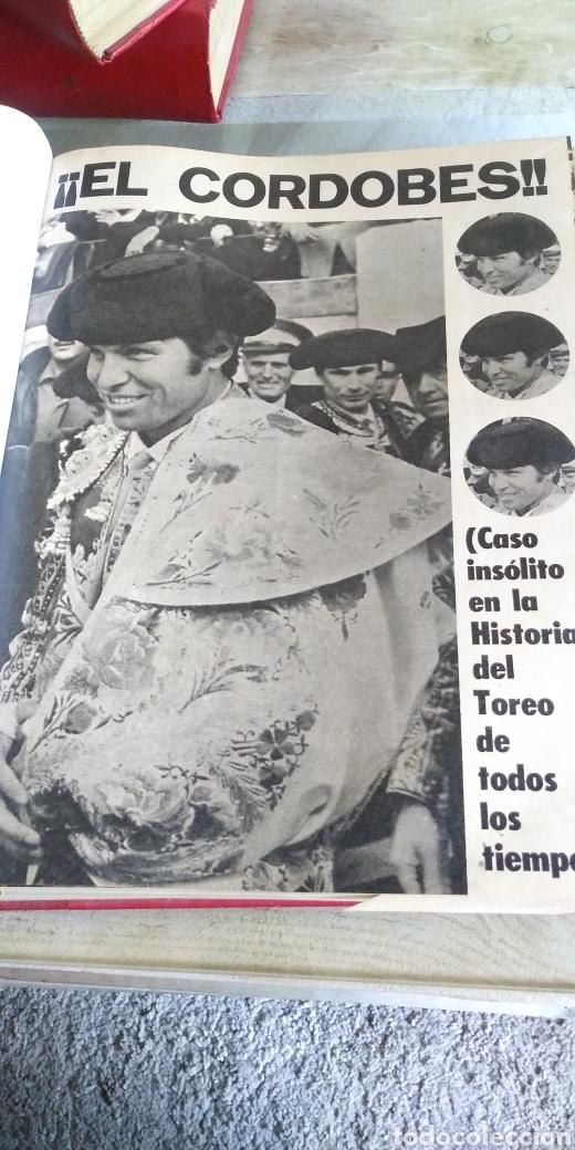 Coleccionismo de Revista Temas Españoles: 3 encuadernaciones del mundo de los toros ,mas de 100 numeros revista el ruedo , del 1963 al 1969 - Foto 3 - 203251000