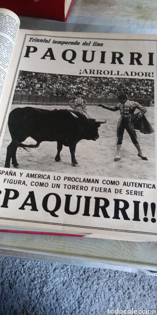 Coleccionismo de Revista Temas Españoles: 3 encuadernaciones del mundo de los toros ,mas de 100 numeros revista el ruedo , del 1963 al 1969 - Foto 4 - 203251000