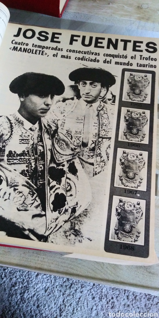 Coleccionismo de Revista Temas Españoles: 3 encuadernaciones del mundo de los toros ,mas de 100 numeros revista el ruedo , del 1963 al 1969 - Foto 5 - 203251000