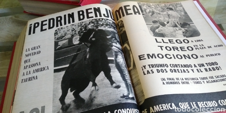 Coleccionismo de Revista Temas Españoles: 3 encuadernaciones del mundo de los toros ,mas de 100 numeros revista el ruedo , del 1963 al 1969 - Foto 30 - 203251000