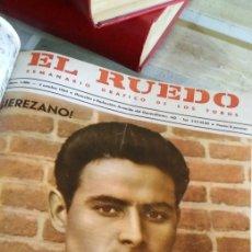 Coleccionismo de Revista Temas Españoles: 3 ENCUADERNACIONES DEL MUNDO DE LOS TOROS ,MAS DE 100 NUMEROS REVISTA EL RUEDO , DEL 1963 AL 1969. Lote 203251000
