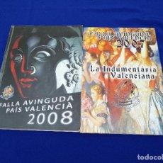 Coleccionismo de Revista Temas Españoles: LOTE LLIBRETS FALLA DE CULLERA- (ILUSTRACIONES INDUMENTARIA VALENCIANA). Lote 204190540