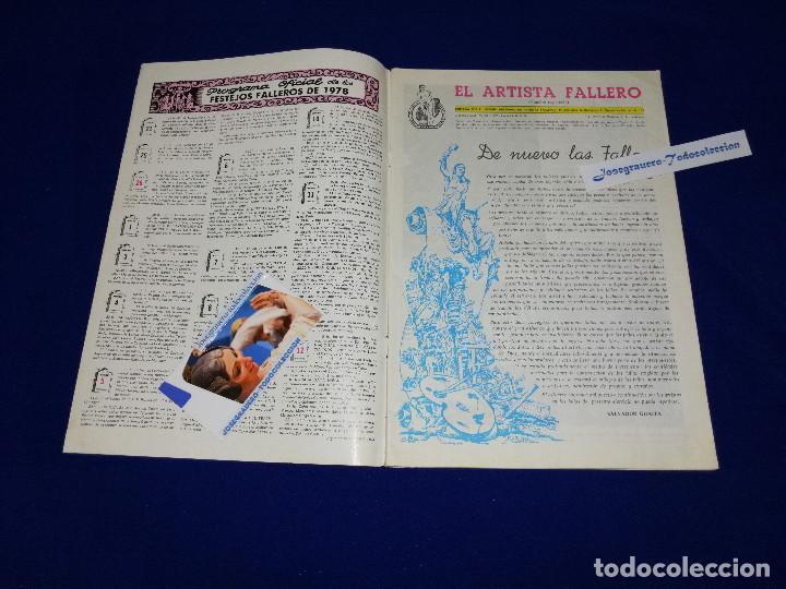 Coleccionismo de Revista Temas Españoles: EL ARTISTA FALLERO 1978 - Foto 3 - 204367693