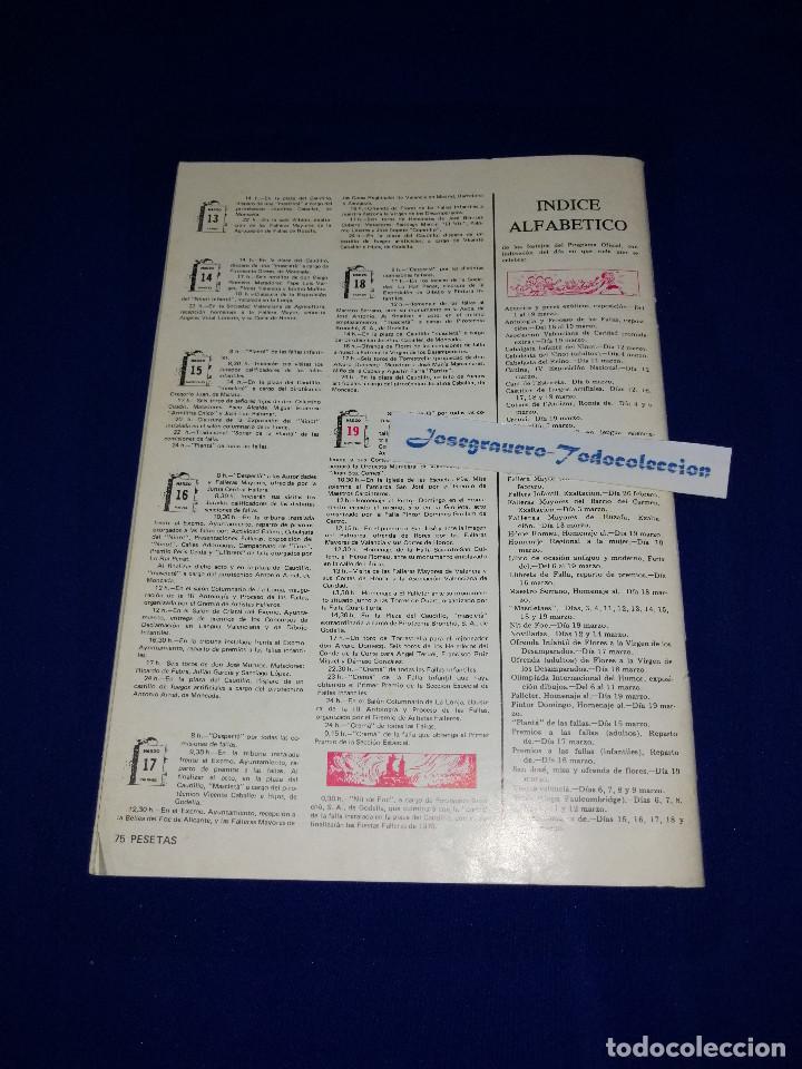 Coleccionismo de Revista Temas Españoles: EL ARTISTA FALLERO 1978 - Foto 8 - 204367693