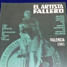 Coleccionismo de Revista Temas Españoles: EL ARTISTA FALLERO 1981. Lote 204411471