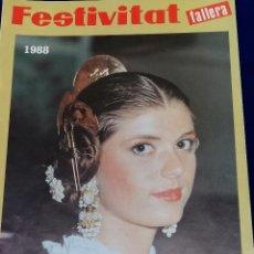Coleccionismo de Revista Temas Españoles: FESTIVITAT FALLERA 1988. Lote 204484293