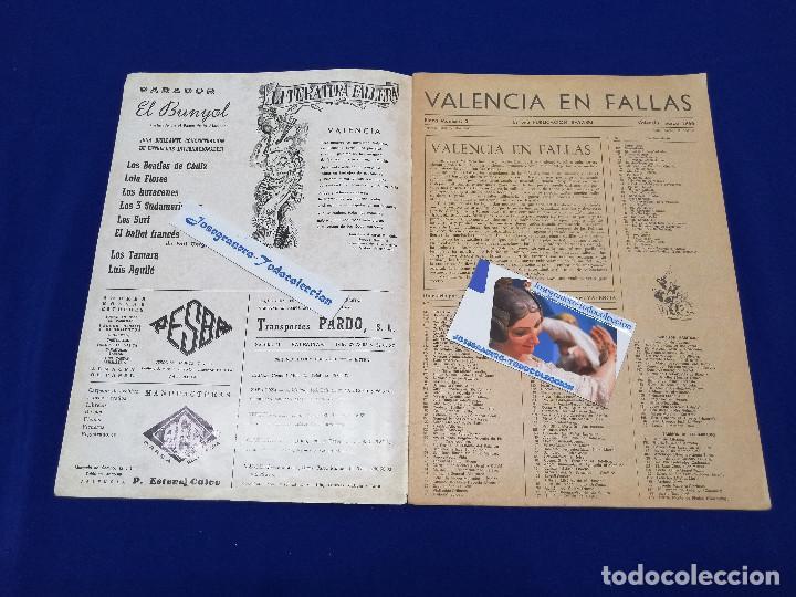 Coleccionismo de Revista Temas Españoles: VALENCIA EN FALLAS 1966 REVISTA FALLERA - Foto 3 - 204625187