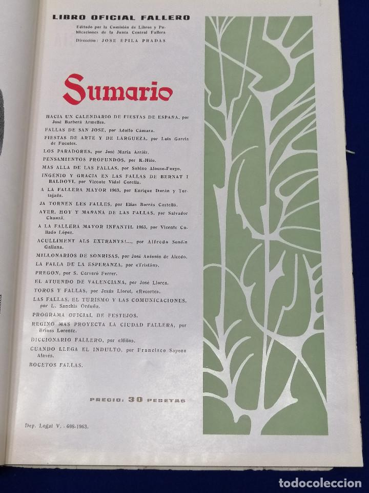 Coleccionismo de Revista Temas Españoles: LIBRO FALLERO 1963 - Foto 5 - 204627061