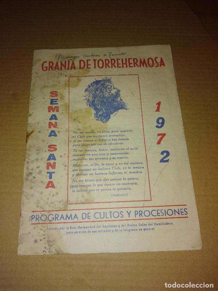 REVISTA GRANJA DE TORREHERMOSA BADAJOZ SEMANA SANTA 1972 (Papel - Revistas y Periódicos Modernos (a partir de 1.940) - Revista Temas Españoles)