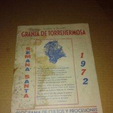Coleccionismo de Revista Temas Españoles: REVISTA GRANJA DE TORREHERMOSA BADAJOZ SEMANA SANTA 1972. Lote 207286766