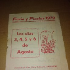 Coleccionismo de Revista Temas Españoles: REVISTA FERIA ALDEA DE CUENCA FUENTE OBEJUNA CORDOBA 1979. Lote 207287296