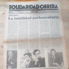 Coleccionismo de Revista Temas Españoles: PERIODICO SOLIDARIDAD OBRERA,NUMERO 66 1980 III EPOCA. Lote 208457542