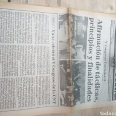 Coleccionismo de Revista Temas Españoles: PERIODICO SOLIDARIDAD OBRERA,NUMERO 58 1980 III EPOCA. Lote 208458797