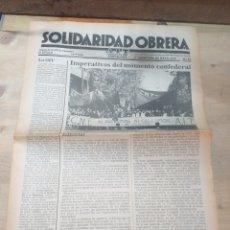Coleccionismo de Revista Temas Españoles: PERIODICO SOLIDARIDAD OBRERA,NUMERO 44 MAYO DE 1979 III EPOCA. Lote 208460963