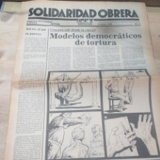 Coleccionismo de Revista Temas Españoles: PERIODICO SOLIDARIDAD OBRERA,41 ABRIL 1979 III EPOCA. Lote 208461652