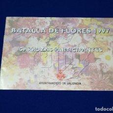 Coleccionismo de Revista Temas Españoles: BATALLA DE LAS FLORES 1997 -CARROZAS PARTICIPANTES. Lote 208598992
