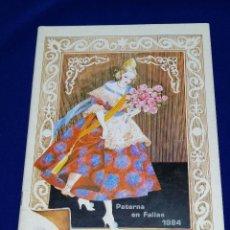 Coleccionismo de Revista Temas Españoles: LLIBRET JUNTA LOCAL FALLERA PATERNA 1984. Lote 214355633